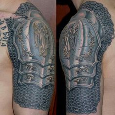 Amazing armor tattoo, now just add a horde or alli symbol lol ;P