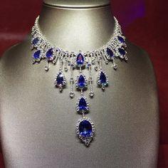 Beautiful Manu &Chris GASPARI necklace #basel2016 #novelty #Diamonds #sapphires #jewellery #asiajewellers #bahrain #gaspari by asiajewellers