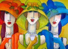 as seen thru the eyes of the artist tom barnes Wal Art, Illustration Art, Illustrations, Arte Popular, Naive Art, Whimsical Art, Acrylic Art, Portrait Art, Portraits