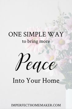 Are you struggling with chaos in your home? There is a way you can create more peace starting right now! Christian Homemaking, Christian Parenting, Raising Godly Children, Biblical Marriage, Christian Resources, Christian Families, Parenting Articles, Women Of Faith, Simple Way