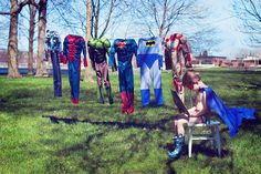 Laundry day for Superboy. These Are Your Moments, a photographer based in Port Colborne, Ontario, captured this great image that creatively captures childhood.