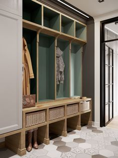 : 31 Genius Mudroom Ideas 31 Genius Mudroom Ideas : 31 Genius Mudroom Ideas 31 Genius Mudroom Ideas The Characteristics of Apartment Lobby Classic - Farmhouse En. Bedroom Furniture, Home Furniture, Casa Milano, Hallway Decorating, Modern Farmhouse, Hallway Bench, Cool Designs, Entryway, New Homes