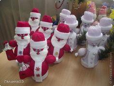 Мастер-класс Свит-дизайн Новый год Моделирование конструирование Дед Мороз и Снегурочка Бумага гофрированная фото 1