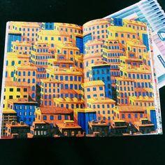 Het tweede enige echte kleurboek voor volwassenen: stad 3d
