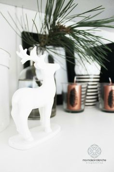 White ceramic deer by Madam Stoltz
