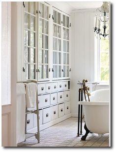 White Scandinavian Bathrooms Featured in Skona Hem Magazine