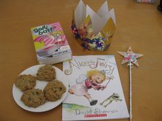 Alice the Fairy day decorate wands and crowns, make and eat chocolate chip cookies and have a Gelli Baff. -/