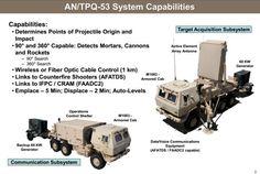 AN/TPQ-53 counterbattery  radar system.