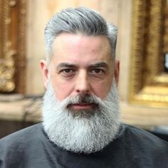 gray hair and beard images at DuckDuckGo Grey Beards, Long Beards, Beard Styles For Men, Hair And Beard Styles, Beard Images, Mens Hairstyles With Beard, Beard Growth Oil, Bald With Beard, Beard Haircut