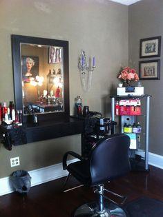 Home based beauty salon ideas salon design ideas luxury salon decorating ideas budget for hair salon . home based beauty salon Salon Design, Diy Design, Design Ideas, Interior Design, Home Hair Salons, In Home Salon, Hair Stations, Small Salon, Beauty Salon Decor