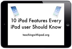 10 iPad Features Every iPad Owner Should Know Technology Hacks, Educational Technology, Teaching Technology, Technology Design, Energy Technology, Iphone Information, Iphone Life Hacks, Ipad Hacks, New Ios