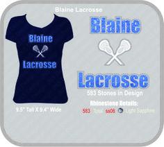 Blaine Lacrosse Rhinestone T-shirt