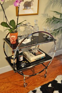 """Check out our site for additional information on """"gold bar cart decor"""". It is actually an excellent location for more information. Brass Bar Cart, Gold Bar Cart, Diy Bar Cart, Bar Cart Decor, Bar Carts, Bar Trolley, Drinks Trolley, Cozy Bar, Outside Bars"""