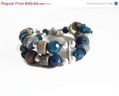 Santa gives you 10% Blue agate bracelet by FlorenceJewelshop