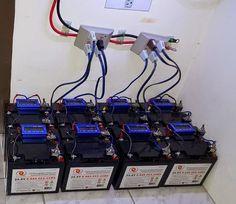 Aparelho de ar condicionado movido a energia solar.