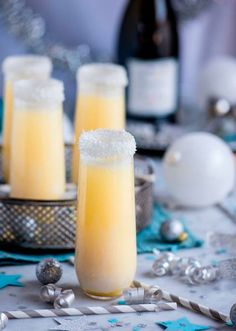 Champagne cocktail infused with pineapple and coconut