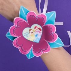Free #Printable #MothersDay #Disney Princess Wrist Corsage - doing-disney.com #crafts
