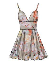 McCall's M7719 Misses' Dresses #sewingpattern