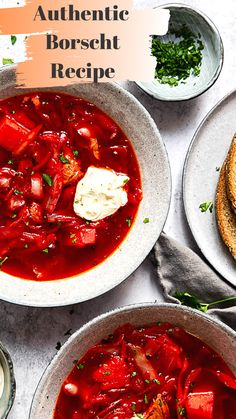 Borscht Recipe (Iconic soup made easy! Borscht Recipe, Beet Soup, Cabbage Soup Recipes, Easy Soup Recipes, Soup And Salad, Easy Dinner Recipes, Beet Recipes, Vegetarian Recipes, Soups