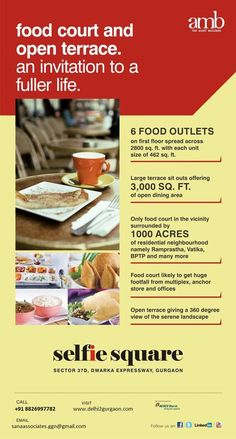 AMB - Selfie Square offers Open Terrace Food Court right on Dwarka Expressway Gurgaon