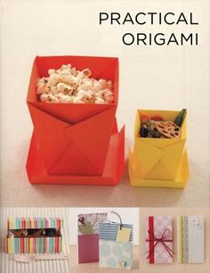 Practical Origami.  Cookie box, deli box, toothpick holder, tissue case, folding card case, and MUCH more.