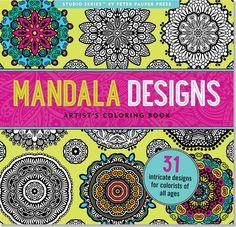 Boho Mandala Designs Anti-Stress Adult Coloring Book