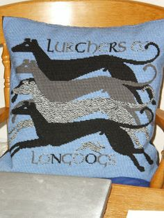 Cushion designed by Julia Line of Long Dog Samplers