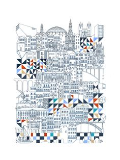Gallery of Cities Intricately Captured in Thin Line Illustrations - 1