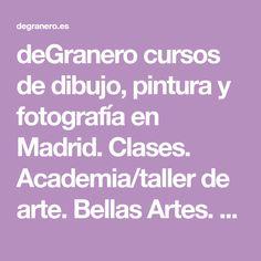 deGranero cursos de dibujo, pintura y fotografía en Madrid. Clases. Academia/taller de arte. Bellas Artes. 14 colores que debes tener en tu paleta.