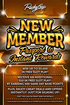 Introducing our New Member Promo...get your Passport to Instant Rewards! #newmembers