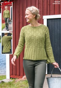 Lovely sweater in our Alpacka Solo. How To Start Knitting, How To Purl Knit, Knitting Designs, Knitting Patterns, Cardigan Pattern, Sweater Patterns, Hand Knitting, Ravelry, Knitwear