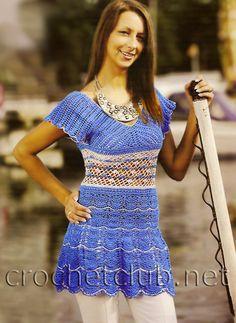 Crochet blue tunic