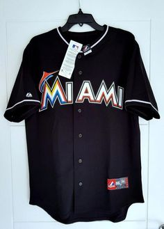 Majestic Miami Marlins MLB Official Baseball Jersey Shirt Made in USA Men's for sale online Espn Baseball, Marlins Baseball, Minnesota Twins Baseball, Baseball Tee Shirts, Royals Baseball, New York Yankees Baseball, Baseball Socks, Baseball Jerseys, Baseball Tickets