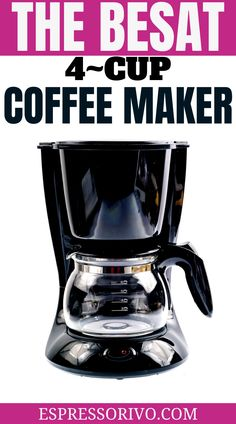 If you have limited counter space but still want a machine that can whip up the good stuff, a 4-cup coffee maker might be just what you're looking for. If you're the only coffee drinker in the house and just don't see the need for having a full 12-cup machine, a 4-cup coffee maker could be the optimal solution. 4 Cup Coffee Maker, Coffee Maker Reviews, Coffee Cups, Coffee Drinkers, Counter Space, House, Coffee Mugs, Home, Coffee Lovers
