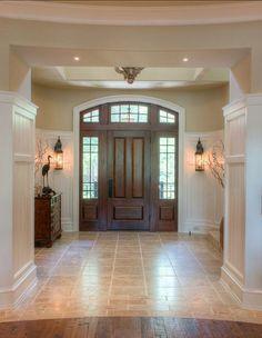 Foyer Flooring Ideas tiled foyer traditional entry | around the house | pinterest