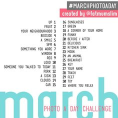March Photo A Day Challenge. I'm going to actually do this month!