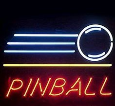 f2f6a1606f61 Amazon.com  Pinball Handcrafted Neon Light Sign 19x15  Home Improvement Neon  Signs For
