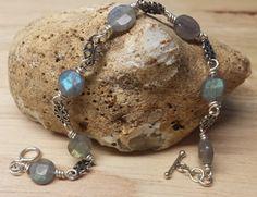 Reiki attuned Bali silver bead Labradorite by empoweredcrystals, £25.00