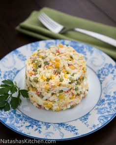 """Krabovy salad"" - Russian Style Crab Salad."