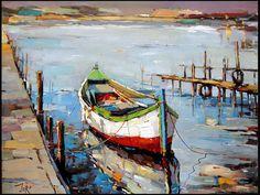 Znalezione obrazy dla zapytania pinterest+pinturas de oleo de botes