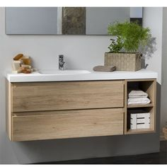 if wood vanity- then real wood, not ply Bathroom Basin, Wood Bathroom, Bathroom Renos, Bathroom Furniture, Modern Bathroom, Master Bedroom Bathroom, Upstairs Bathrooms, Bathroom Design Small, Bathroom Interior Design