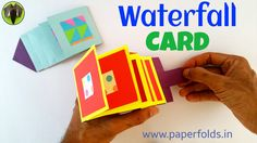 "Craft tutorial to make a Paper ""Waterfall Greetings card"""