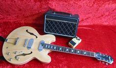 Epiphone Casino guitar  Vox Escort Battery/Mains combo  Boss SD-1 pedal
