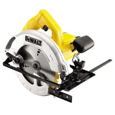 Dewalt Dwe550-Gb 165mm Compact Circular Saw 240V offers high durability and heavy-duty cutting performance. It features a 165mm blade diameter, is a compact and lightweight design, comes with a dust blower and offers a powerful 1200W motor as standard.   L047888