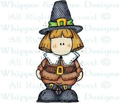 Pilgrim Boy - Thanksgiving - Holidays - Rubber Stamps - Shop