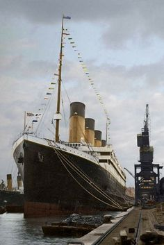 "On April 4, 1912, RMS Titanic was ""dressed"" in a panoply of flags and pennants for a salute to the people of Southampton. It was the only occasion she was ever ""dressed."" It was previously believed that Titanic was dressed overall on the following day (Good Friday, April 5), however, recent research has uncovered a contemporary note written by one of the ship's officers confirming the date was in fact April 4."