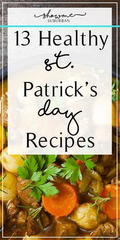 Looking for food that won't make you outgrow your kilt? These light and healthy St. Patrick's day recipes will do just the trick! Ideas for paleo, vegan, and gluten-free included! via Suburban Good Healthy Recipes, Whole 30 Recipes, Healthy Appetizers, Healthy Snacks, St Patricks Day Food, Christmas Dishes, Healthy Sides, Barbecue Recipes, Foods With Gluten