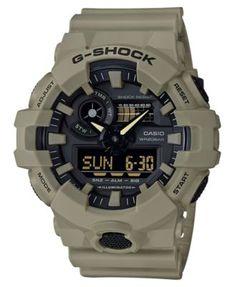 af9419750bf G-Shock Men s Analog-Digital Beige Resin Strap Watch 53mm G Shock Shop