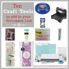 Perfect gift ideas for the crafter!!