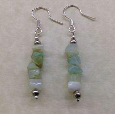 Handmade CHRYSOPRASE Gemstone Bead EARRINGS - Chakra Balancing Energy